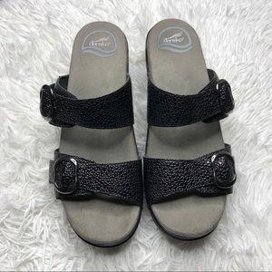 DANSKO Sophie Double Strap Sandal Black